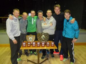 Wirral AC Men's Team, winners of the 2015-16 Borders Road Race League.